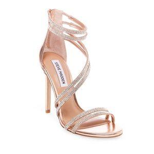 🐘Steve Madden rose gold sandals size 6.5